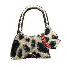 YOKIRIN Leopard Muster Hund Zinklegierung Dekorative Taschenhaken & Handtaschenhalter als perfekte Geschenkidee für Frau, Freundin, Mutter und Tochte