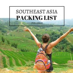 Southeast Asia Travel Tips l southeast asia packing list: for girls l @tbproject