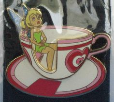 Tinker Bell Pin WDI Riding in a Tea Cup Series LE Imagineering Disney very Rare