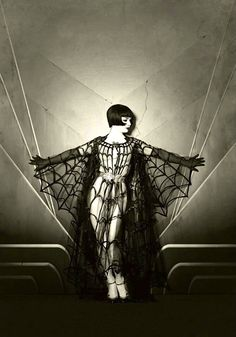 silent film goddess in gothic sensual pose vintage photo style model vicky butterfly, photographer the talented maria s. varela   Louise Brooks silent star inspired work , look at the photos by this artist and watch the mesmerising films of the star too