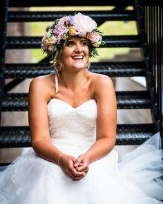 Great picture of Sam from her wedding on Friday - thanks @jamesgristphotography I love  it #flowercrown #floralcrown #kentflorist #weddingflowerskent #flowersandsparkle #blousyflowers #breathtaking #sittingbourneflorist #2019bride #kent #florist