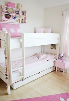 BUNKS FOR GIRLS..love the drawers underneath