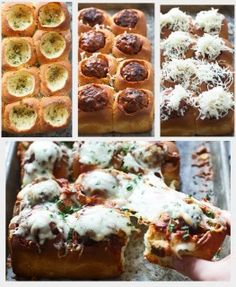 Meatball Stuffed Garlic Rolls!!