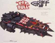 Back To The Future Part II Hoverboard Concept Art - Griff's board