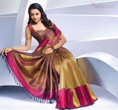 Indian saree bhavana in pulimoottil silk saree for more pics kancheepuram silk saree altavistaventures Image collections
