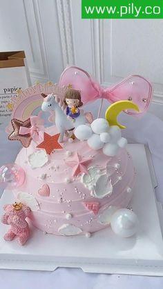 Buttercream Cake Decorating, Cake Decorating Designs, Creative Cake Decorating, Cake Decorating Videos, Birthday Cake Decorating, Cake Decorating Supplies, Cake Decorating Techniques, Cake Designs, Pretty Birthday Cakes