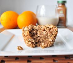 Apple Cinnamon Baked Oatmeal  mywholefoodlife.com