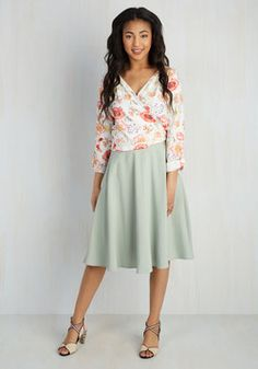 Just this Sway Skirt in Sage