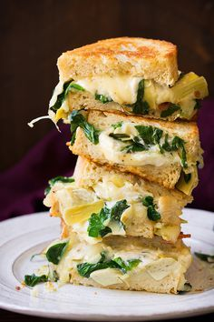 Spinach Artichoke Grilled Cheese - Cooking Classy