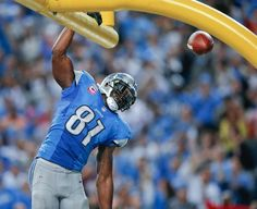 My man!!!!!! Straight from Gtech! Detroit Lions wide receiver Calvin Johnson