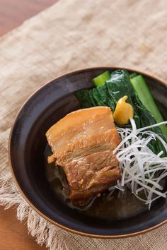 Buta no Kakuni. Pork belly simmered in soy sauce and dashi until it's melt-in-your-mouth tender. | No Recipes