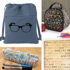 9 geek-chic back-to-school finds with glasses! Kids Glasses, Cool Glasses, Eye Glasses, Kid Stuff, Geek Stuff, Ga Ga, Cute School Supplies, Geek Chic, Optician