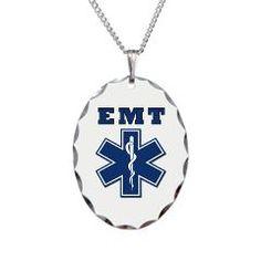 EMT Necklace Oval Charm