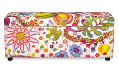 Love this covered in Josef Frank fabric...colorful fun!