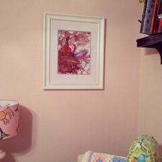 Have big sibling make artwork for new baby's room! (in the future)