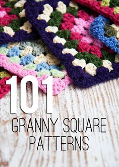 Links to 101 Granny Square Patterns, gathered by Amanda Long of My Creative Nook.  A couple of hexagons are also included.  Nice to have these all in one place   . . . .   ღTrish W ~ http://www.pinterest.com/trishw/  . . . . #crochet #motif