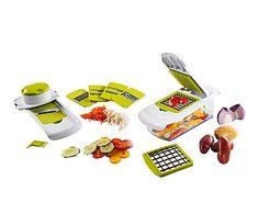 Set para cortar hortalizas de plástico y metal