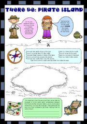 English worksheet: BE AN EXPLORER - THERE BE + GIVING DIRECTIONS (editable)