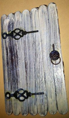 popsicle crafts fairy door | My version of the elf/fairy/gnome door as inspired by a post on the ...