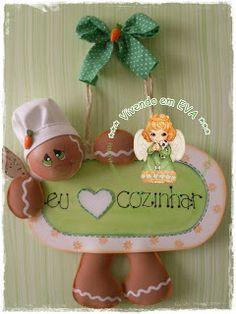 Vivendo em EVA: Peça especial Name Banners, Gingerbread, Baby Shower, Wreaths, Christmas Ornaments, Holiday Decor, Crafts, Angela, Scrap