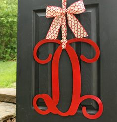 Your place to buy and sell all things handmade Door Monogram, Monogram Wreath, Monogram Letters, Paint Color Chart, Monogram Painting, Wreath Hanger, Wood Letters, Custom Metal, Handmade Design