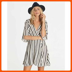 Billabong Junior's Dolly Flutter Sleeve Woven Dress, Black/White, XS - All about women (*Amazon Partner-Link)