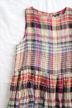 MADRAS W-TUCK DRESS - Other Brand,ONE-PIECE - Veritecoeur(ヴェリテクール)