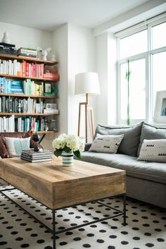 livig room makeover with West Elm