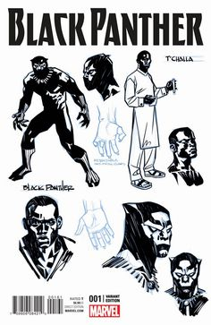 Marvel Drawing Art Print: Black Panther No. 1 Cover Art by Brian Stelfreeze : - Black Panther Marvel, Black Panther Series, Drawing Cartoon Characters, Comic Drawing, Cartoon Drawings, Drawing Art, Comic Book Covers, Comic Books Art, Book Art
