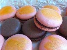 Chocolate and Grand Marnier macarons