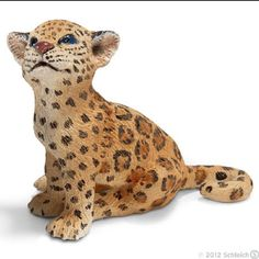 Schleich 14622 Jaguar Cub Toy Animal Figurine Wild Life America Baby Big Cat #Schleich