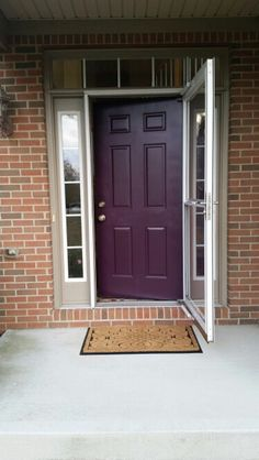 Give your front door a pop of sophisticated color with this stunning maroon hue. Check out this updated exterior inspiration from Alaya of @BBGDBLo\u2026 & Give your front door a pop of sophisticated color with this ... Pezcame.Com