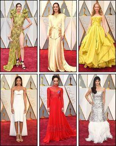 Oscar 2017 red carpet Dakota Johnson and Naomie Harris