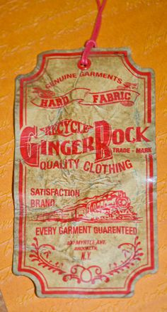 Ginger Rock #hangtag