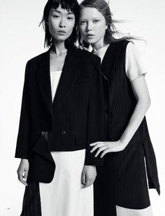 Bibi Sharipova & Varya Shutova By Louis Christopher For Harper's Bazaar Kazakhstan June 2016