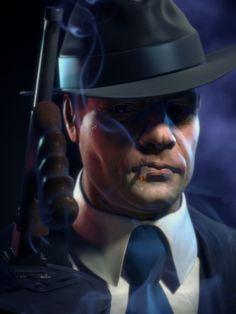 En gangsterliknande typ i Mafia II.