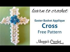 ▶ Easter Cross Applique Free Crochet Pattern - Right Handed - YouTube