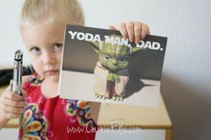 Are you looking for free printable father's day cards? You'll love this fun Star Wars card!
