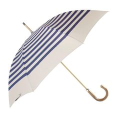 Henley Blue Our classic stripe umbrella named after the home of the regatta ,blues stripes hand printed ontoa country beige poly cotton canopy, beech wood shaf