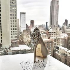 """""""Shoe-perfect"""" pic via @badgleymischka #shoe #perfect #foryoutrad #silver #lovely #highheels #bridalshoe"""