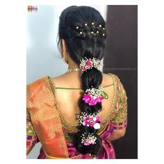 South Indian Bridal Hair Style Hairdos Ideas - New Site Bridal Hairstyle Indian Wedding, Bridal Hair Buns, Bridal Hairdo, Indian Bridal Hairstyles, Bride Hairstyles, Trendy Hairstyles, South Indian Bride Hairstyle, Bridal Braids, Ethnic Hairstyles