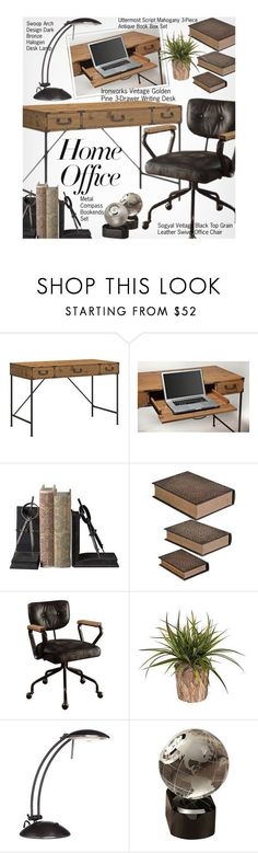 """Home Office"" by beebeely-look ❤ liked on Polyvore featuring interior, interiors, interior design, home, home decor, interior decorating, home office, homedecor, homeoffice and lampsplus"