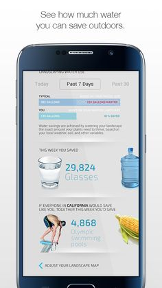 Do you know exactly how much water your garden or lawn needs to stay healthy? The free Unity app from ETwater, through the power of your smartphone, calculates precisely how much water your lawn or garden needs to avoid over-watering or wasting water. etwater.com/mobile