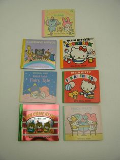 7 Vintage 1976 SANRIO Mini Seal Sticker Books HELLO KITTY Twin Stars & MY MELODY