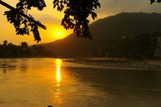 Sunset at the river, Rishikesh, India