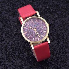 Relogio Feminino Dropshipping Gift Women Watches Reloj Mujer Women Ladies Leather Band Analog Quartz Wrist Watch july28