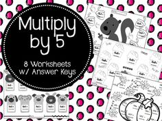 These 8 worksheets are a great way to help your students review their 5 Times Tables.  Answer Keys are included!!