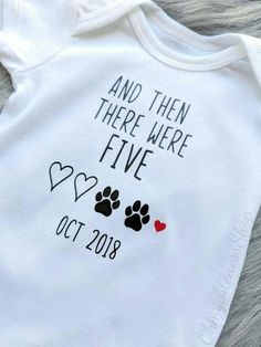 And then there were Five Pregnancy Announcement Onesie®