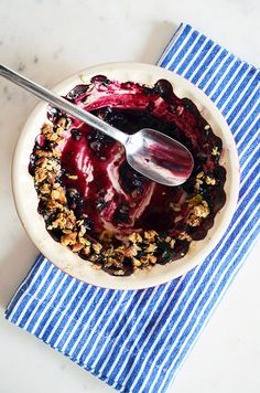 Homemade Blueberry Nut Crumble for National Blueberry Pie Day