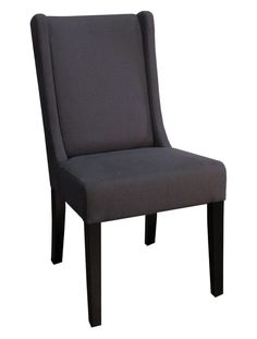 The Lauren Non-Tufted High Back Chair - Grey from LH Imports is a unique home decor item. LH Imports Site carries a variety of Seating and other  Collections furnishings.
